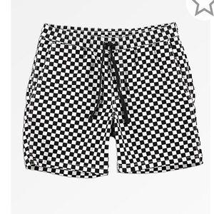 """VANS**Black + White Chekered Shorts 17"""" Med."""